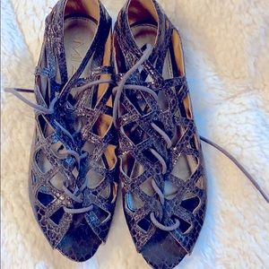 MIA croc print gladiator sandal